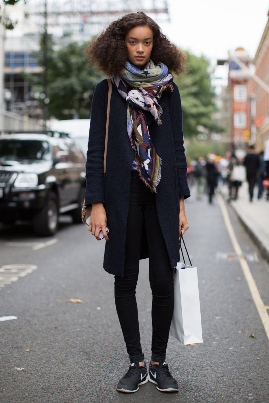 Scarf And Sneakers The Best Street Style At London Fashion Week Spring 2017 Livingly