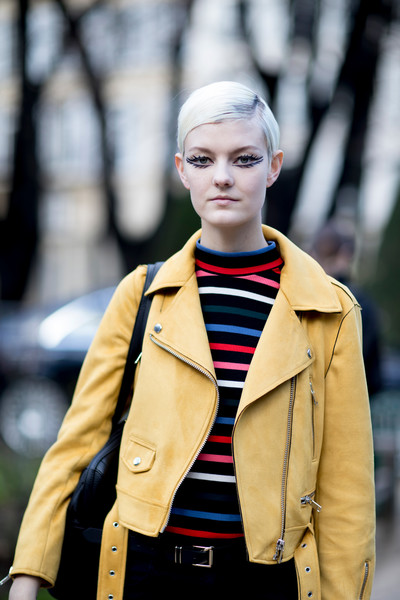Yellow Leather and Stripes
