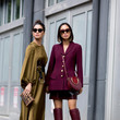 Burgundy and Olive