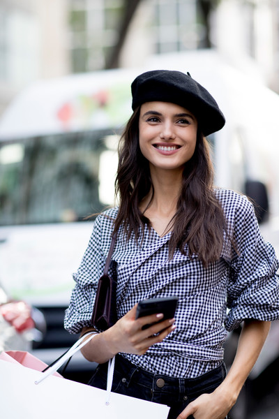 60 Creative Outfit Ideas From New York Fashion Week · Beret and Gingham 72df02a633f