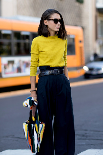 High Waisted Pants Milan 39 S Most Inspiring Street Style