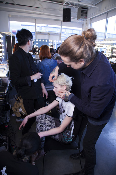 Tess Giberson at New York Fall 2013 (Backstage)