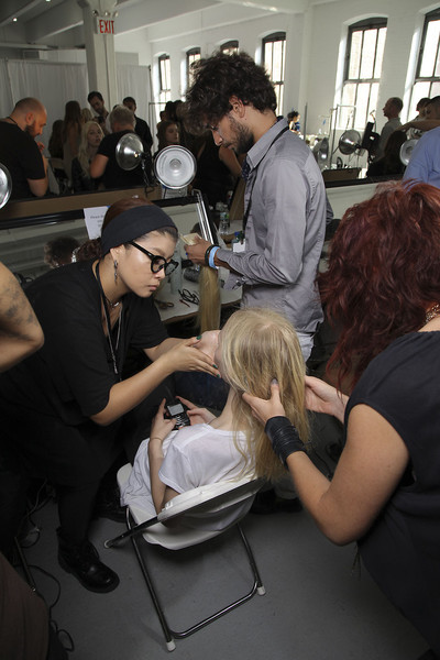 Theyskens Theory at New York Spring 2012 (Backstage)