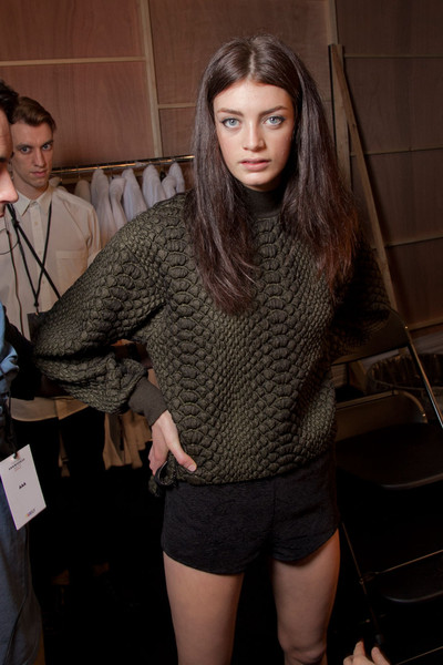 Topshop Unique at London Fall 2012 (Backstage)