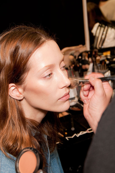 Trussardi 1911 at Milan Fall 2012 (Backstage)