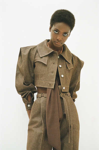 Véronique Leroy at Paris Spring 2021 [clothing,trench coat,coat,outerwear,standing,overcoat,fashion,beige,fashion design,sleeve,outerwear,trench coat,coat,clothing,beige,fashion design,sleeve,fashion,paris fashion week,veronique leroy]