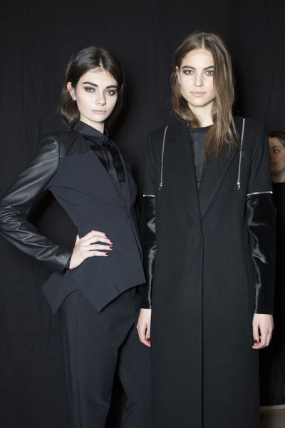 Yigal Azrouël at New York Fall 2013 (Backstage)