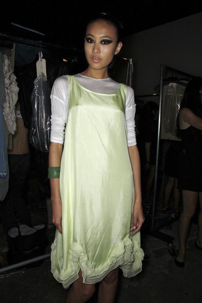 Yigal Azrouël at New York Spring 2009 (Backstage)