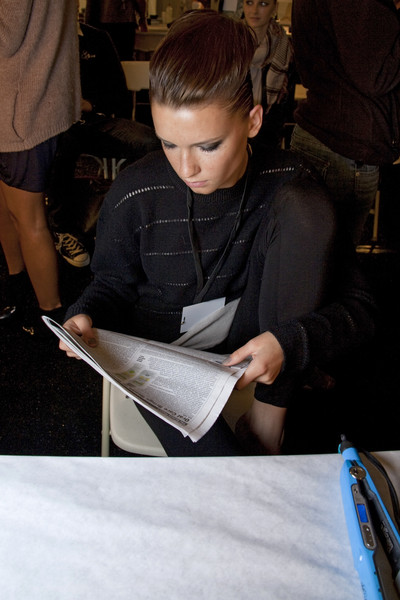 Yigal Azrouël at New York Spring 2010 (Backstage)