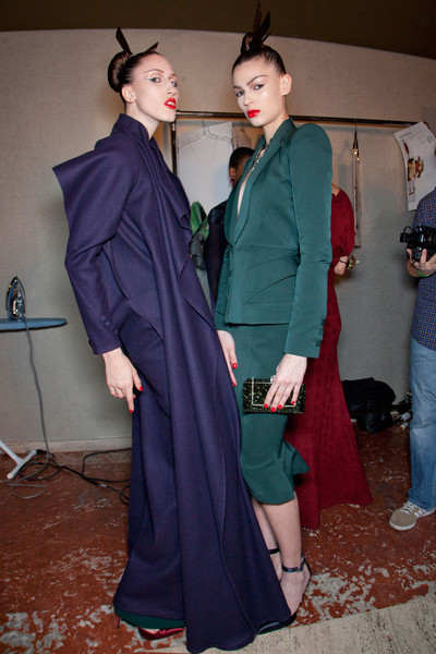 Zac Posen at New York Fall 2012 (Backstage)