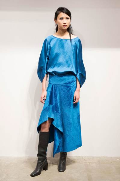 Zero + Maria Cornejo at New York Fall 2018 [clothing,blue,fashion model,fashion,turquoise,electric blue,cobalt blue,shoulder,aqua,fashion show,zero maria cornejo,designer,fashion,runway,fashion week,model,blue,cobalt blue,new york fashion week,fashion show,runway,fashion show,paris fashion week,fashion week,fashion,model,zero maria cornejo,designer,celine]