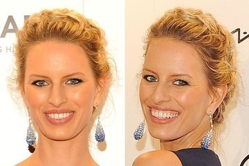 Karolina Kurkova Wears Adorable Heidi Braid