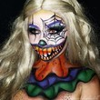 Candy Corn Clown Makeup
