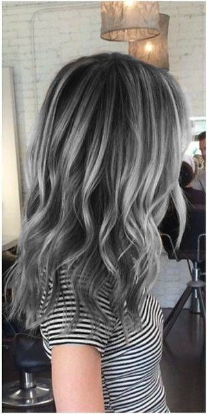 Charcoal base with silver highlights 21 pinterest looks - Couleur gris charcoal ...