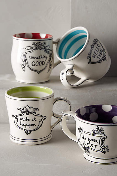 Molly Hatch Inspirational Coffee Mugs, $12