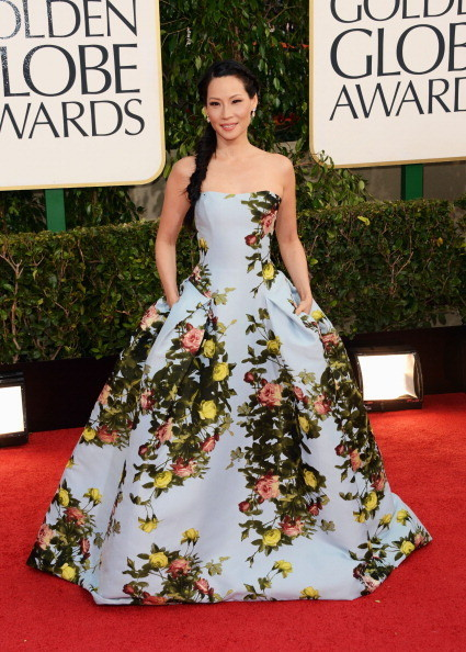 Lucy Liu in Dolce & Gabbana at the 2013 Golden Globe Awards