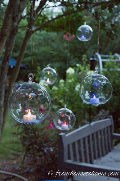 Outdoor Floating Candle Idea