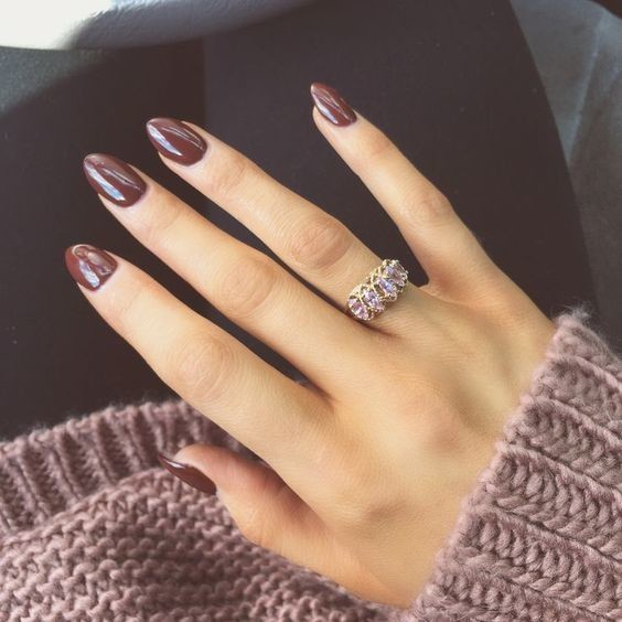 Simple Glossy Nails - Simple Glossy Nails - The Best Fall Nail Ideas On Pinterest - Livingly