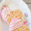 Chocolate-Dipped Rice Krispie Treat Hearts