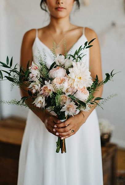 Pale Peach Dahlia Bouquet