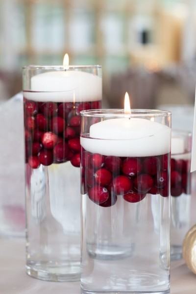 Floating Cranberry Candles