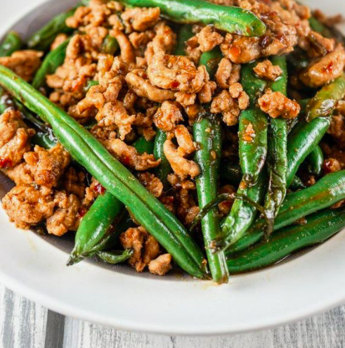Pair Green Beans With Spicy Ground Turkey