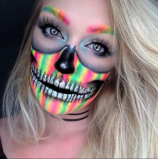 rainbow skull celebrate day of the dead with these sugar