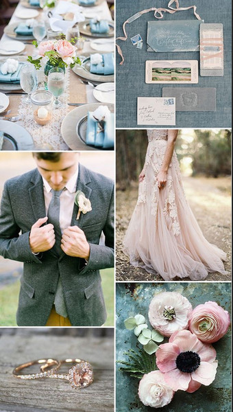 Soft Pink and Dove Grey
