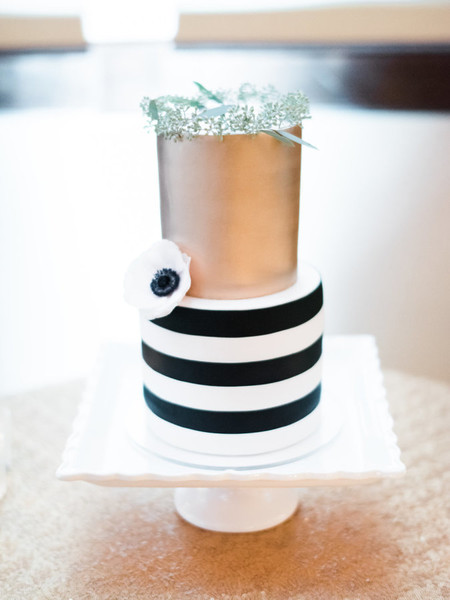 Gold and Striped Cake