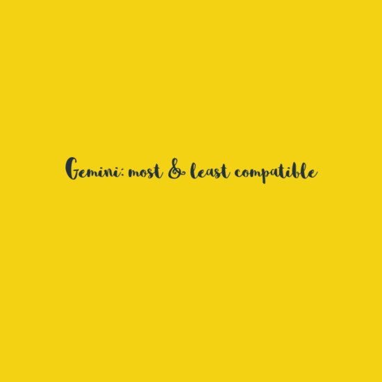 Gemini: Most & Least Compatible - Everything You Need To