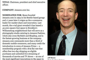 Amazon.com Founder Jeff Bezos Nominated for 'WWD' Newsmaker of the Year
