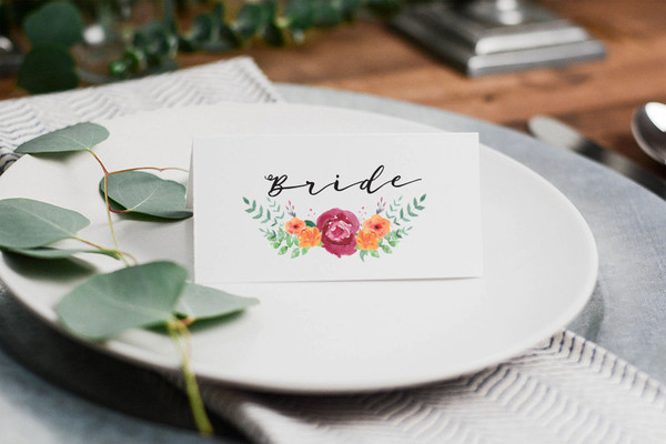 Hand Painted Flowers - Beautiful and Creative Wedding Place Card ...