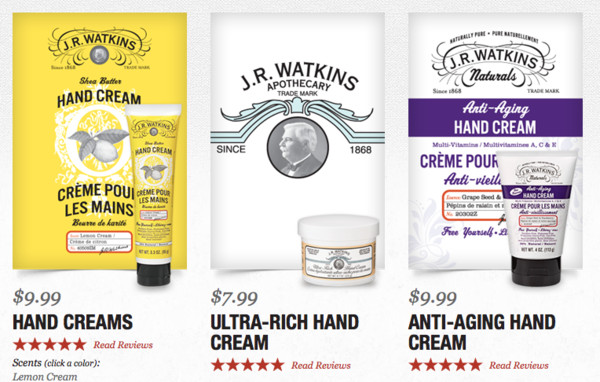 J.R. Watkins Lemon-Scented Hand Cream