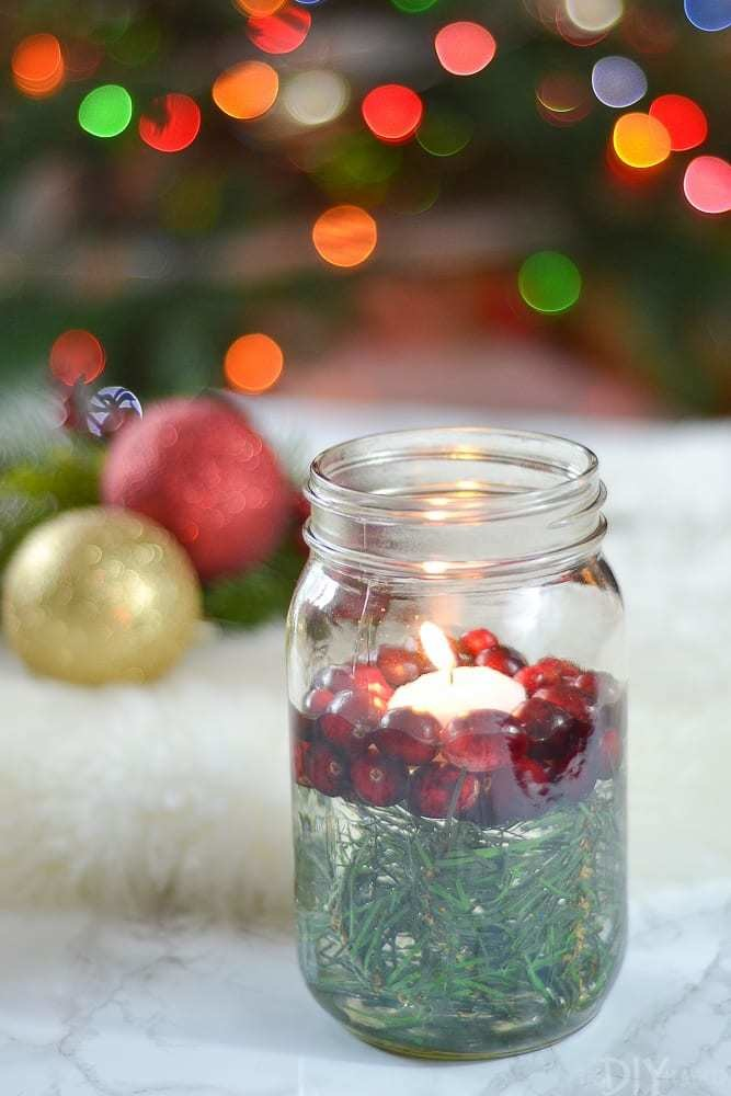 Mason Jar Candle Holder - Festive Holiday Decor Ideas For Small Spaces - Livingly