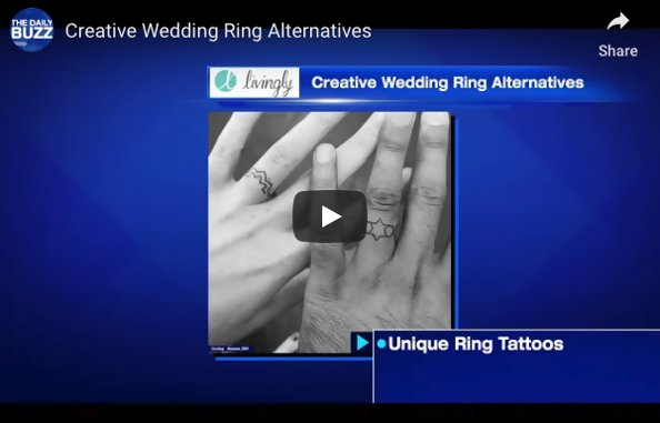 Creative Engagement And Wedding Ring Alternatives For Non-Traditional Couples