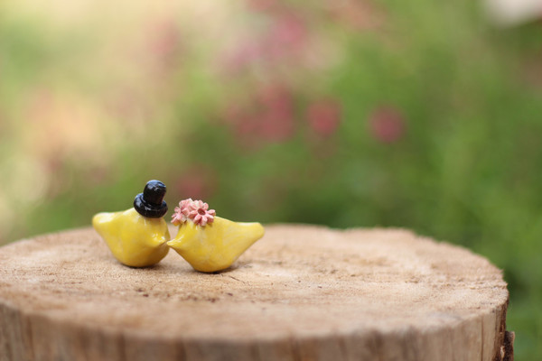 Ceramic Love Birds