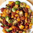 Roasted Brussels Sprouts and Squash Side Dish