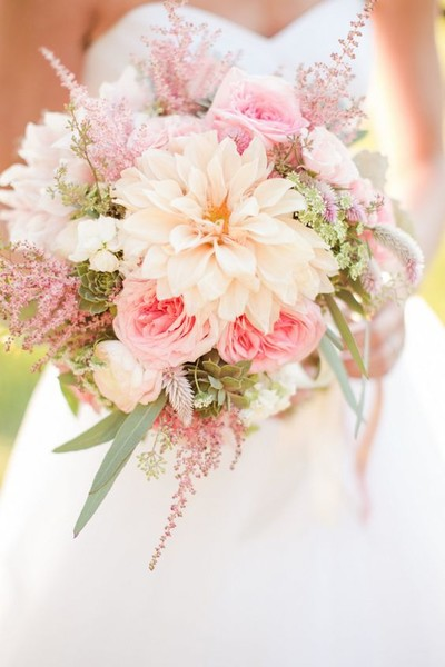 Pretty Peach & Coral Bouquet