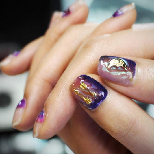 Pisces Nebula Nails , Horoscope Nail Art Ideas Perfect For