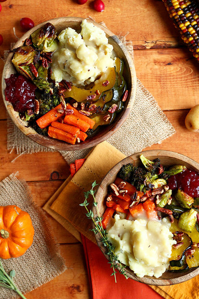 Vegan Thanksgiving Bowls