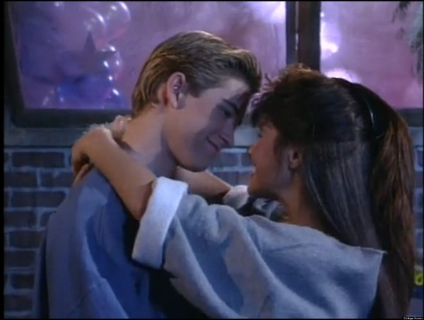 Zack and Kelly from 'Saved By the Bell'