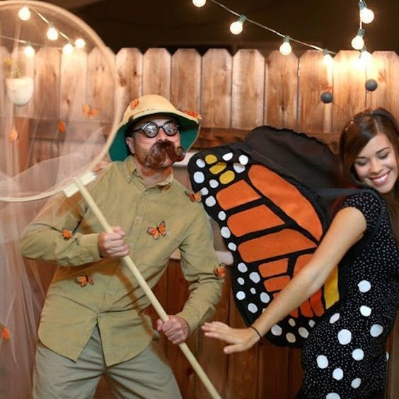 Butterfly Catcher & Butterfly - Couples Halloween Costumes