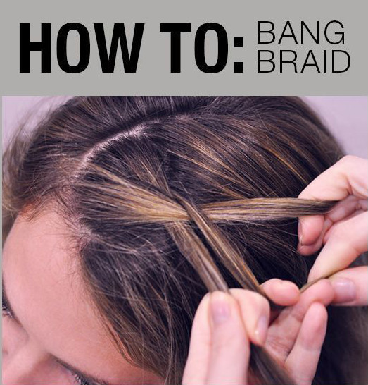 Braided Bangs - Easy Hairstyles You Can Do In 5 Minutes - Livingly
