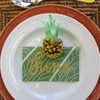 Pineapple Pinecone Place Card Holder