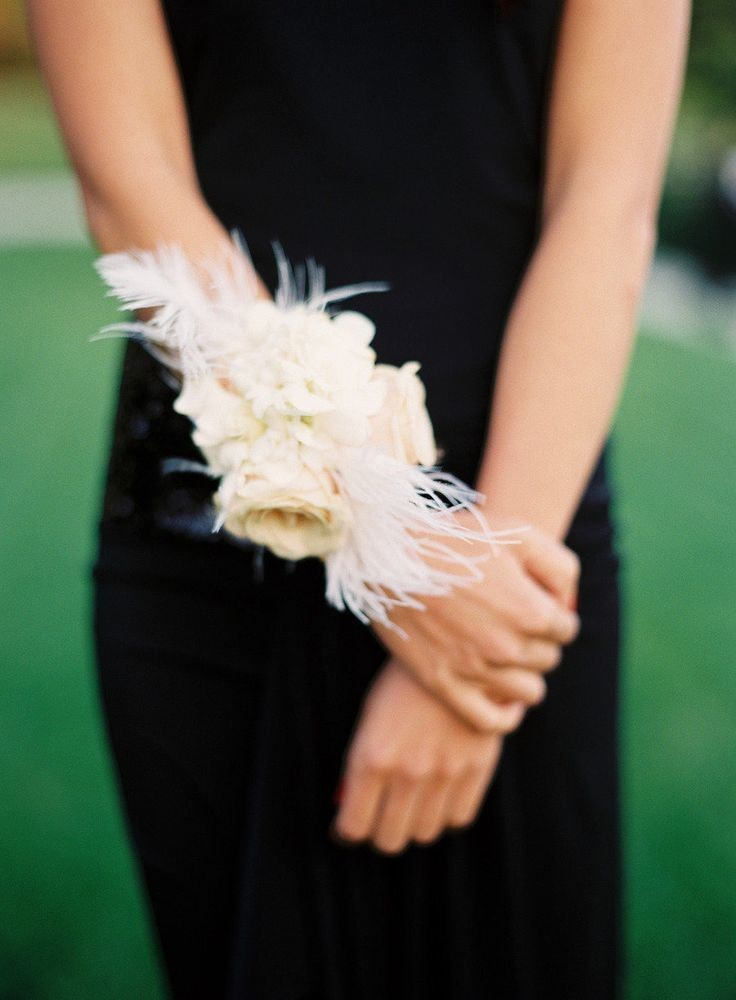 Vintage Feathers These Wrist Corsages Will Make You