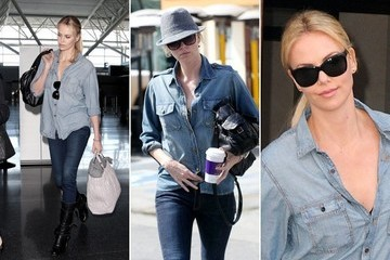 Charlize Theron Does Denim-on-Denim