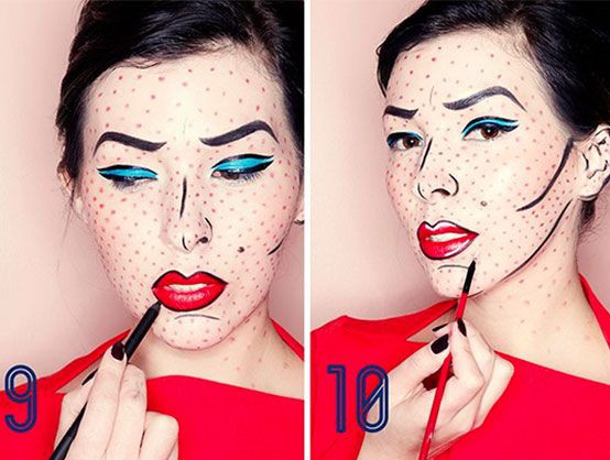 Pop Art Halloween Costume | Pop Art Makeup Halloween Costumes You Can Make With Just Makeup