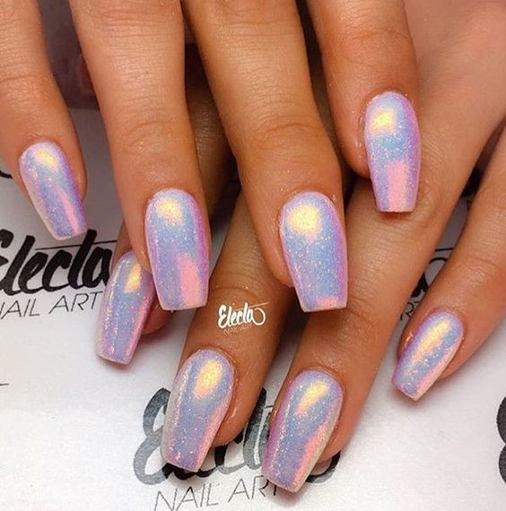 Pink Perfection - These Holographic Nails Will Give You Major Nail ...