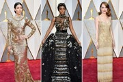 The Most Fabulous Metallic Dresses at the 2017 Oscars