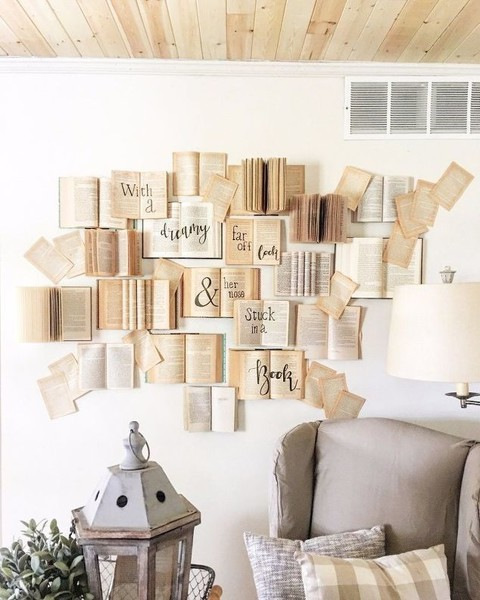 diy book wall 27 creative diy wall decor ideas that will